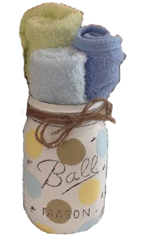 Mason jar baby shower gift