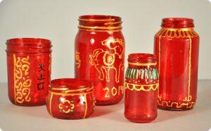 Chinese New Year mason jar
