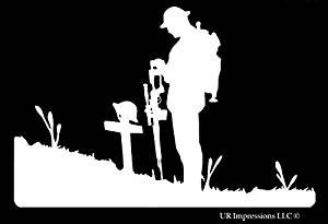 Fallen soldier vinyl decal
