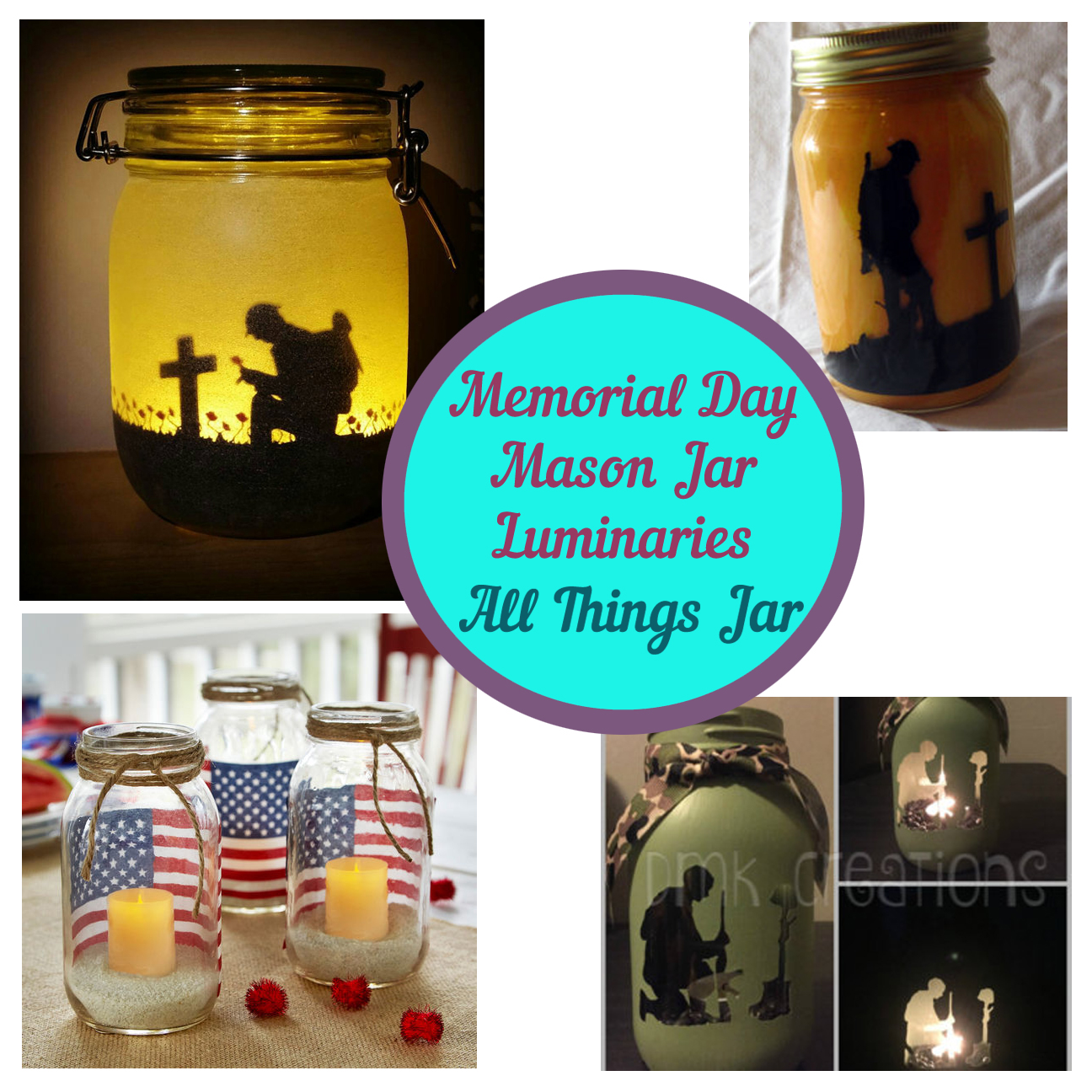 Memorial Day Mason Jar Luminaries