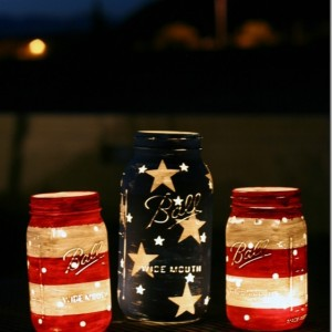 4th of July mason jar