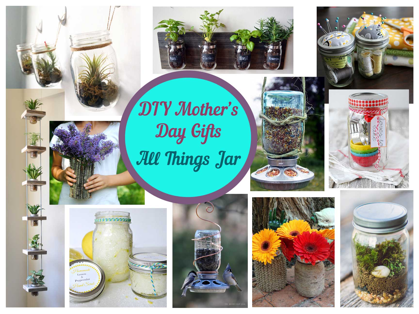 Mother's Day DIY mason jar gifts