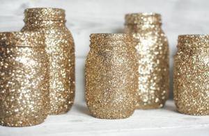 New Year mason jar