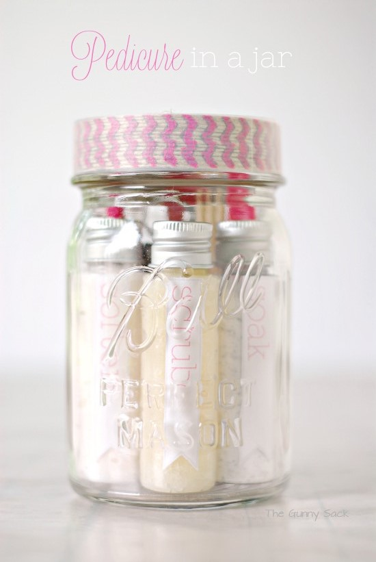 13 diy mothers day mason jar gifts all things jar 12 pedicure in a jar negle Images