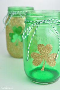 St. Patrick's Day mason jar