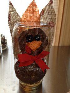 Thanksgiving mason jar