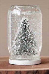Winter mason jar